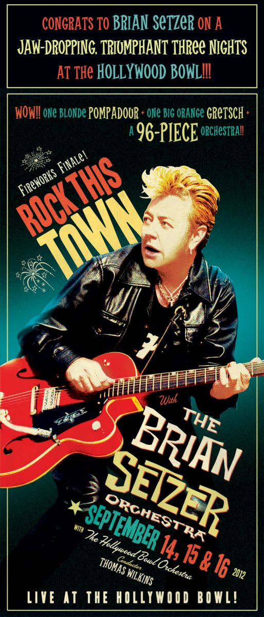 Congrats to Brian Setzer on a jaw-dropping, triumphant three nights at the Hollywood Bowl!!!