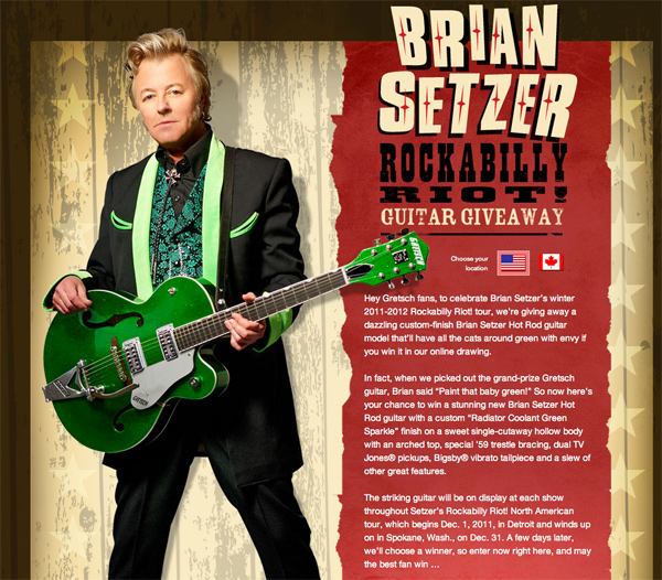 Click here to enter the Gretsch Guitar Giveaway!