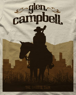 "Glen Campbell ""Cowboy"" tee close up photo"