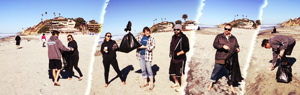 Surfdog Beach Cleanup at Moonlight Beach
